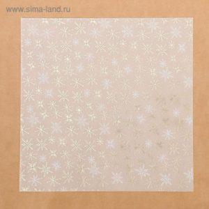 Калька c фольгированием «Зимнее утро», 30,5 × 30,5 см