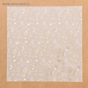Калька c фольгированием «Зимняя сказка», 30,5 × 30,5 см