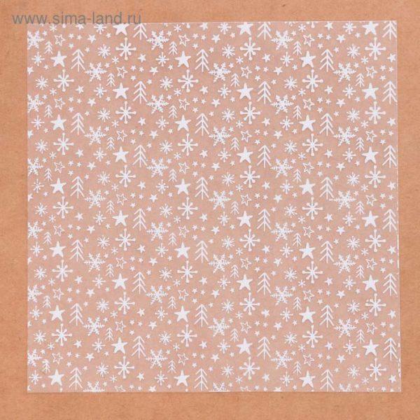 Ацетатный лист «Снежная пора», 15,5 × 15,5 см