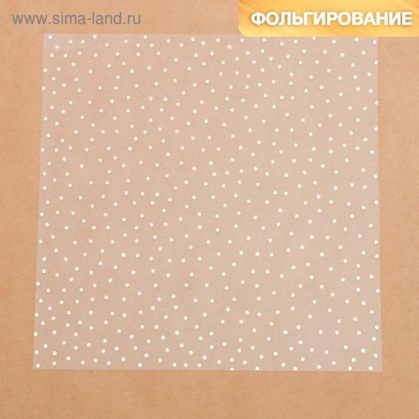 Ацетатный лист с фольгированием «Золотой горошек», 30,5 × 30,5 см