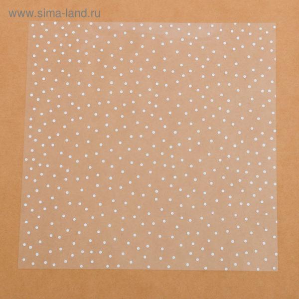 Ацетатный лист «Белый горошек», 30,5 × 30,5 см