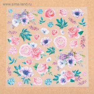 Ацетатный лист «Аромат цветов», 30,5 × 30,5 см
