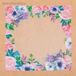 Ацетатный лист «Весенний сад», 20 × 20 см