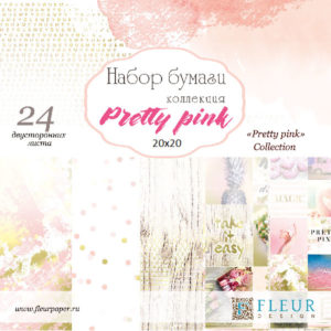 """Набор бумаги """"Pretty pink"""" 20х20, 6 двусторонних листов FD1006820"""