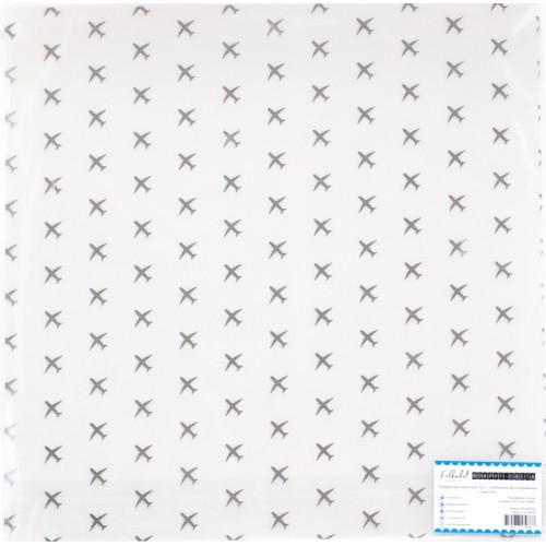 """ac100-04 Прозрачный ацетатный лист с серебряным фольгированием """"Аэропорт"""""""
