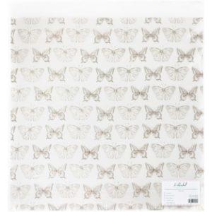 """ac100-06 Прозрачный ацетатный лист с золотым фольгированием """"Бабочки"""""""