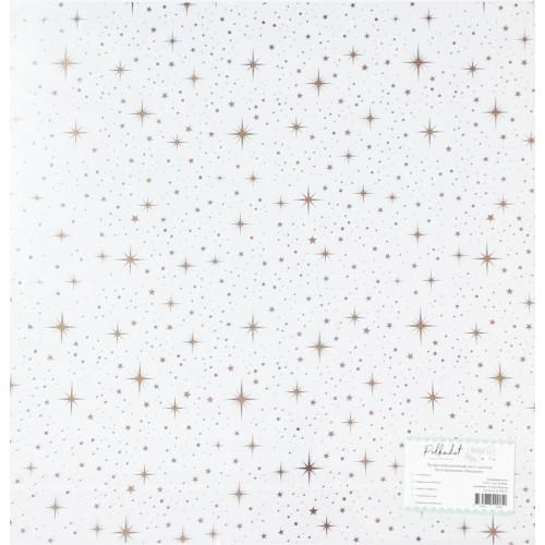 """ac100-07 Прозрачный ацетатный лист с золотым фольгированием """"Мерцание"""""""