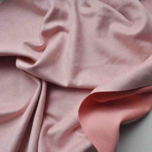 Искусственная замша односторонняя на дайвинге, цвет розовый
