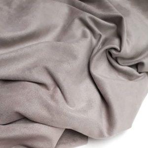 Искусственная замша двусторонняя, цвет теплый серый