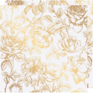Heidi Swapp - Лист кальки (веллум) с золотым фольгированием - Floral - Emerson Lane