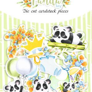 "FDSDC-04069 Набор высечек, коллекция ""My little panda boy"", 45шт"