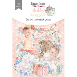 "FDSDC-04076 Набор высечек, коллекция ""Shabby baby girl redesign"", 55шт"