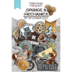 """FDSDC-04079 Набор высечек, коллекция """"Grunge&Mechanics"""", 77шт"""