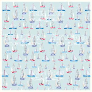 """FDV-0004 Деко веллум (лист кальки с рисунком) """"Кораблики"""" 29х29см"""