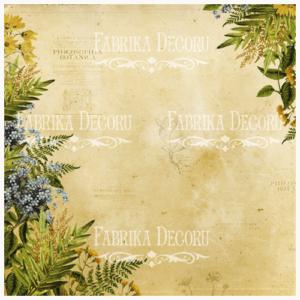 "FDV-0083 Деко веллум (лист кальки с рисунком) ""Botany Spring"" 29х29см"