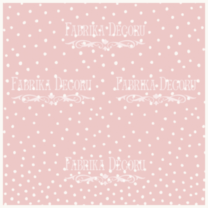 "FDV-0087 Деко веллум (лист кальки с рисунком) ""Горошек на розовом"" 29х29см"