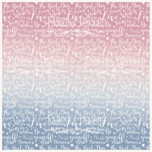 """FDV-0096 Деко веллум (лист кальки с рисунком) """"Сказочный текст"""" 29х29см"""